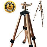 SOMMERLAND A5013D 2-PC Brass Impact Tripod Sprinkler with Heavy Duty Brass Impact Sprinkler Up to 5000 SQF Coverage on Premium Tripod Adjustable from 25 to 48 Inch