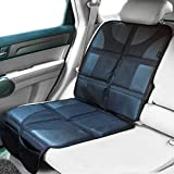 Sunferno Car Seat Protector - Protects Your Car Seat from Baby Car Seat Indent, Dirt and Spills - Waterproof Thick Padded Protector Liner to Keep Your Auto Upholstery Looking New - with Storage Pocket