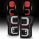 For 2007-2013 Toyota Tundra Pickup [Tube Light Bar] LED Black Tail lights Lamp Driver+Passenger Side Pair