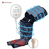 CLORIS Leg Massager for Circulation with Heat Function, Foot Massager with 6 Modes 3 Intensities, for Tired Feet, Legs, Calf, Plantar Fasciitis, Diabetics, Neuropathy, Deep Kneading (Long)