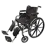 Med-Elite Deluxe Wheelchairs - Elevating Leg Rests - Desk-Length Arm Rests - Padded Nylon Seat (16' Seat)