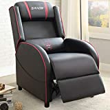 Homall Gaming Recliner Chair Racing Style Single Living Room Sofa Recliner PU Leather Recliner Seat Home Theater Seating (Red)