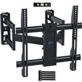 Corner TV Wall Mount Bracket Tilts, Swivels, Extends - Full Motion Articulating TV Mount for 26-55 Inch LED, LCD, 4K Flat Curved Screen TVs - Holds up to 99 Lbs, VESA 400x400 - Heavy Duty TV Bracket