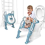 GrowthPic Toddler Toilet Seat with Step Stool Ladder for Boy and Girl Baby Potty Training Seat Kid's Toilet Trainer Seat Chair