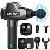 RENPHO Massage Gun, Deep Tissue Muscle Massager, Powerful Percussion Massager Handheld with Portable Case for Home Gym Workouts Equipment, Back Neck Shoulder Soreness Stiffness Knots Tension Relief
