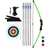 KESHES Archery Recurve Bow and Arrow Youthbow Set - Beginner Bows for Outdoor Hunting – Bow and Arrows Set with Equipment for Teens and Kids