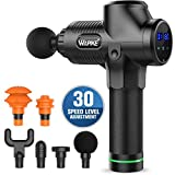 Massage Gun, Deep Muscle Relaxation Percussion Massager Gun, 6 Massage Heads for Body Aches, Pain, Muscle Recovery (Black)