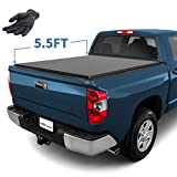 YITAMOTOR Tri-Fold Campatible for 2014-2020 Toyota Tundra Truck Bed Tonneau Cover 5.5ft