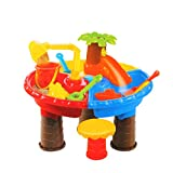 UPDD Popular Summer Beach Sand Water Table, Large Baby Play Water Digging Sandglass Play Sand Tool(22Pcs)