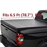 Deebior 6.5ft Clamp On Soft Lock & Roll-up Top Mount Tonneau Cover  1228  Black Vinyl Bed Cover Compatible With Silverado/Sierra 07-13 1500 07-14 2500/3500 HD New Body Pickup Fleetside Bed