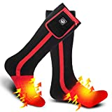 Heated Socks for Men Women,7.4V 2200mah Electric Rechargeable Battery Warm Winter Socks,Cold Weather Thermal Heating Socks Foot Warmers for Hunting Skiing Camping