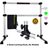 PreGymnastic Updated 4 Ft Adjustable & Portable Freestanding Ballet Barre with Carrying Bag for Dancing Stretching