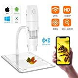 Wireless Digital Microscope, Skybasic Mini Pocket Handheld USB 50x to 1000x Magnification Camera 1080P FHD 2.0 MP 8 LED WiFi Endoscope Compatible with Android Smartphone, iPhone, Tablet, Windows Mac