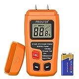 Proster Digital Wood Moisture Meter Handheld LCD Moisture Tester Damp Moisture Tester Detector for Walls Firewood Paper Humidity Measuring