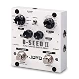 JOYO D-SEED-II Stereo Effect Looper & Delay Pedal Effect Dual Channel Digital Delay Multi Pedal Effect for Electric Guitar Bass 2000ms Delay Time 8 Delay Modes