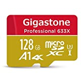 Gigastone 128GB Professional Micro SD Card, UHS-I U3 C10 Class 10 Nintendo Switch Compatible, A1 4K UHD Video 100MB/s