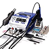 YIHUA 948-II 4 in 1 Hot Air Rework Soldering Iron and Desoldering Suction Tin Gun Station with Suction Pick Up Pen °F /°C