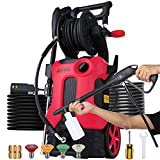 Electric Pressure Washer 3800 PSI 2.8 GPM Power Washer Deliver Up to 10000+ Cleaning Units, Soap Bottle and 4 Nozzles Delivers Different Pressure for Homes Cars Driveways Patios