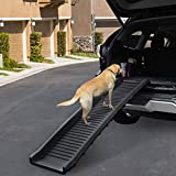 Sandinrayli Folding Pet Dog Ramp Car Ladder Stairs for Puppy Old Dogs Arthritis Joint Pain Portable Lightweight Dog and Cat Ramp, Durable Pet Ramp Supports up to 165lb, Black