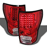 ACANII - For 2007-2013 Toyota Tundra LED Tail Lights Brake Lamps Left+Right Pickup Black