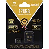 Amplim 128GB Micro SD SDXC V30 A1 Memory Card Plus Adapter Pack (Class 10 U3 UHS-I Pro MicroSD XC) 128 GB Ultra High Speed 667X 100MB/s UHS-1 TF MicroSDXC 4K Flash - Cell Phone, Drone, Camera