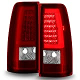For 99-06 GMC Sierra / 99-02 Chevy Silverado Pick Up Truck Black Smoked Lens LED Tube Tail Brake Lights Lamp