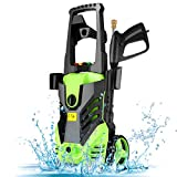Homdox Electric High Pressure Washer, 2950PSI 1.7GPM Max Power Pressure Washer Machine 1800W with 5 Quick-Connect Spray Tips, Detergent Tank Perfect for Car, Home, Garden Cleaning