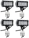 Cutequeen 4 X 36w 3600 Lumens LED Spot Light for Off-Road Rv ATV SUV Boat 4x4 Lamp Tractor Marine Off-Road Lighting (Pack of 4)