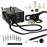 Aoyue 968A+ Professional SMD Digital Hot Air Rework Station with a Soldering Iron and Vacuum Pickup