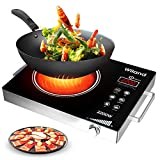 Portable Induction Cooktop induction stove Countertop Burner, 2200 W 120-Volts Induction Cooker with Timer Temperature Control, Smart Touch Sensor Electric Ceramic Cooker Glass Plate Cooktop