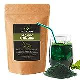 Organic Spirulina Superfood Powder   Antioxidant   Vegan Protein   Detoxifier (1 Pound)