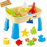 Children Square Sand Water Table Center, 2-in-1 Adjustable Activity Sand and Water Table Toy With Tool For Outdoor Toys For Kids Age 3-5, Cover Summer Beach Outdoor Toys (Multicolour)