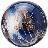Brunswick Rhino Bowling Ball, Black/Blue/Silver, 14 lb