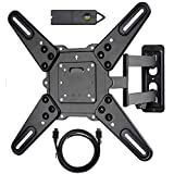 VideoSecu ML531BE2 TV Wall Mount kit with Free Magnetic Stud Finder and HDMI Cable for Most 26-55 TV and New LED TV up to 60 inch VESA 400x400 Full Motion with 20 inch Articulating Arm WT8