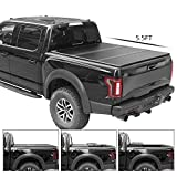 TURBO SII Tri-Fold Truck Bed Tonneau Cover Works with 2014-2018 2019 Ford F150 Truck | Fleetside 5.5' 5.5ft Bed | FRP Solid Fold Hard Folding | 5 Years Warranty