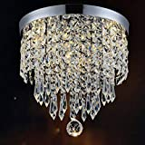 Hile Lighting KU300074 Modern Chandelier Crystal Ball Fixture Pendant Ceiling Lamp H10.43' X W8.66', 1 Light (Chrome)