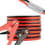 RVGUARD 1 Gauge 30 Feet 800A Jumper Cables, Heavy Duty Booster Battery Cable with Quick Connect Plug