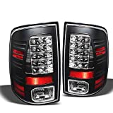 For 2009-2017 Dodge Ram LED Black Tail Lights Lamps Rear Brake Pair Taillights