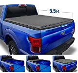 Tyger Auto Black T1 Soft Roll Up Truck Tonneau Cover for 2015-2020 Ford F-150 Styleside 5.5' Bed TG-BC1F9029