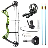 Leader Accessories Compound Bow 30-55lbs Archery Hunting Equipment with Max Speed 296fps (Green/Black with Kit)