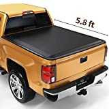 YITAMOTOR Soft Tri-Fold Truck Bed Tonneau Cover Compatible with 2014-2018 Chevy Silverado/GMC Sierra 1500, Fleetside 5.8 ft Bed
