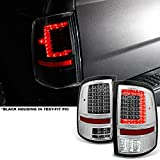 AKKON - For 2009-2018 DODGE RAM 1500 | 10-18 2500/3500 C-Shaped Clear LED Tail Lights Left + Right Side Replacement Pair Set
