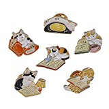 Enamel Lapel Pins Sets Novelty Plant Pin Animal Fruit Brooches for Clothing Bags Backpacks Jackets Hat Jewelry DIY Accessories (Magic Book Set-5pcs)