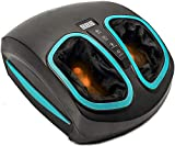 Shiatsu Foot Massager Machine with Heat - Electric Deep Kneading Massage Air Compression - Circulation, Feet Legs, Plantar Fasciitis, Neuropathy Chronic Nerve Pain Therapy Spa Gift
