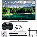 LG 65SM8600 65' 4K HDR Smart LED NanoCell TV w/AI ThinQ 2019 Model (LG65SM8600PUA 65SM8600PUA 65SM8600P) with Xbox One S 1TB, Wireless Backlit Keyboard, Flat Wall Mount Kit & SurgePro 6-Outlet Sur