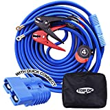 TOPDC Jumper Cables with Quick Connect Plug 1 Gauge 25 Feet 700Amp Heavy Duty Booster Cables with Carry Bag (1AWG x 25Ft)