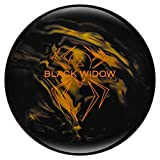 Hammer Bowling Products Black Widow Bowling Ball- Black/Gold, 15lbs