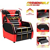 Furniwell Gaming Recliner Chair Single Recliner Sofa Living Room Seat Home Theater Recliner PU Leather Racing Recliner Seat(Red)