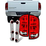 For Dodge Ram 1500 | 2500 |3500 Pickup Truck Red Clear Tail Lights Replacement With Circuit Board Pair