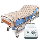 Alternating Pressure Mattress Pad & Electric Pump System, Medical Mattress for Bedsore Prevention and Pressure Ulcer Relief   Ultra Quiet Pump and Pad Topper   Fits Standard Hospital Bed